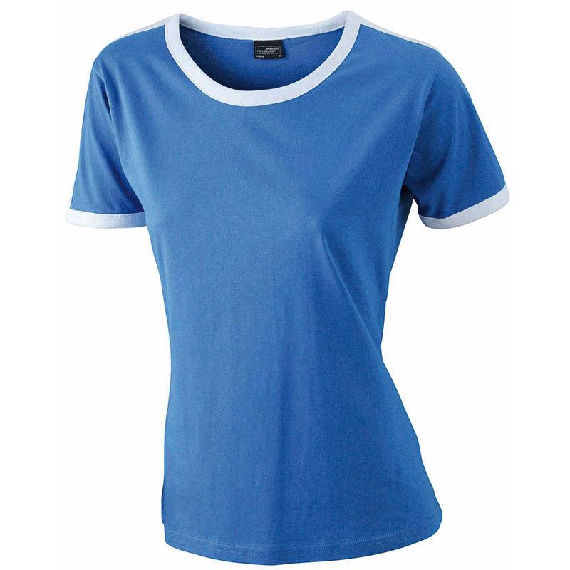 Débardeur femme en coton bleu à rayures contrastées Shirt
