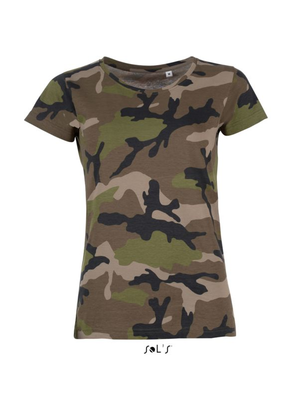 camouflage - Tee-shirt personnalisable : Camo Women