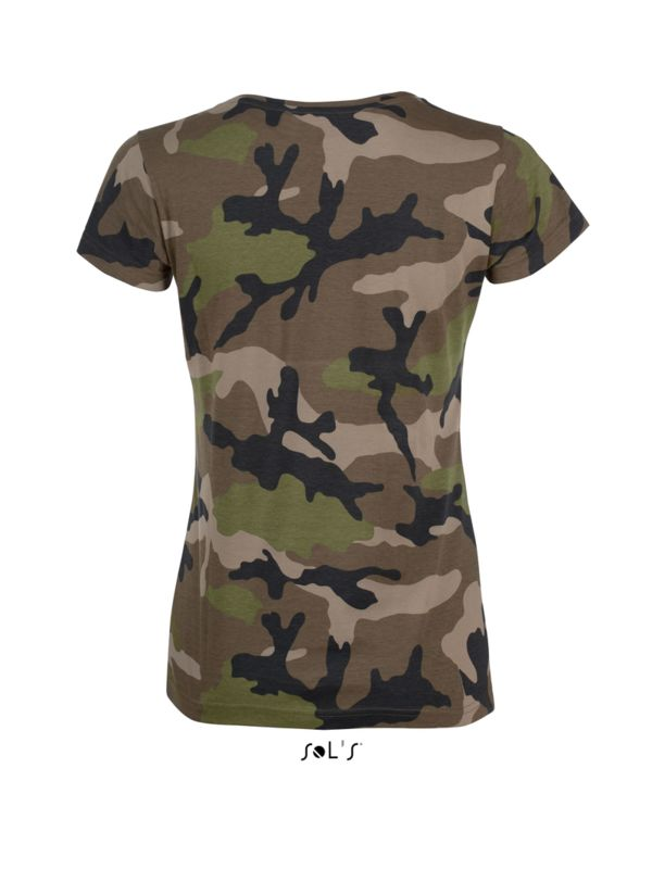 Tee-shirt personnalisable : Camo Women camouflage - Vue n° 2