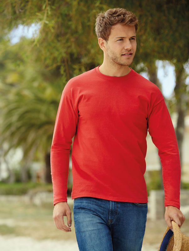 Value Weight T | Tee Shirt publicitaire pour homme Rouge 1