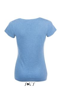 T-shirt à personnaliser : Mixed Women bleu chine - Vue n° 2