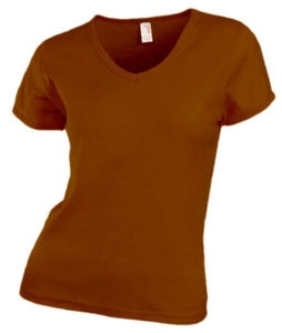 marron - t shirt col v pub