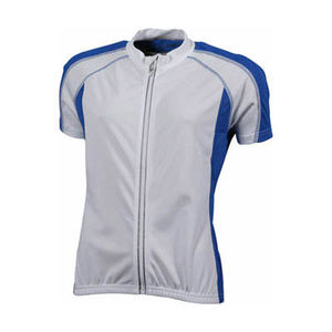 blanc-royal - t shirt cycliste personnalisable