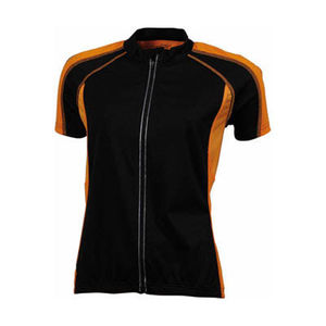 noir-orange - t shirt cycliste personnalisable
