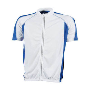 blanc-royal - t shirt cyclistes publicitaires