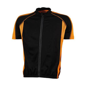 noir-orange - t shirt cyclistes publicitaires