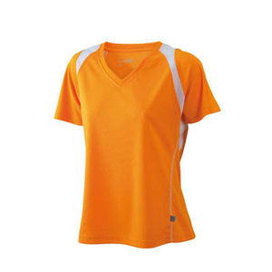 orange-blanc - t shirt logo entreprise