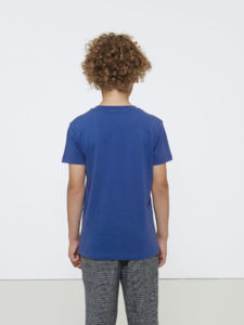 Paints | T Shirt publicitaire pour enfant Bleu royal chiné 4