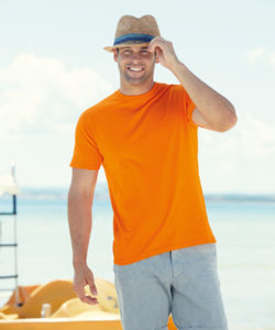 Value Weight | T Shirt publicitaire pour homme Orange 1