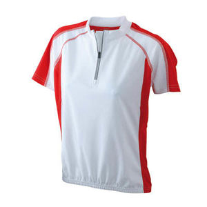 blanc-rouge - tee shirt cycliste femme