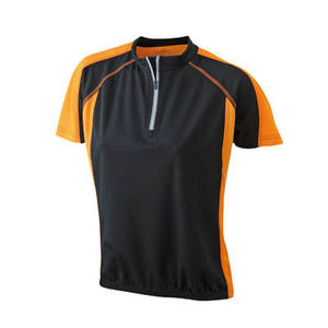 noir-orange - tee shirt cycliste femme