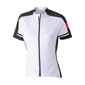 blanc - tee shirt cycliste publicitaire