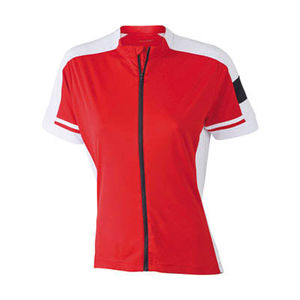 rouge - tee shirt cycliste publicitaire