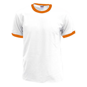 blanc-orange texas - tee shirt imprimé