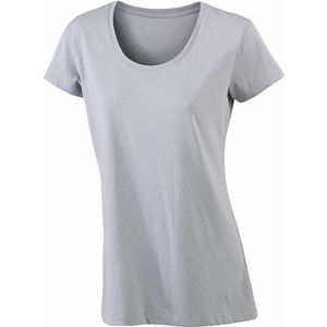 gris chine - tee shirt imprime femme