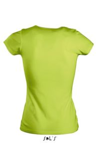 Tee-shirt personnalisable : Moody vert pomme - Vue n° 2