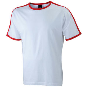 blanc-rouge - tshirt personnalisable homme