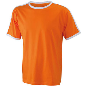 orange-blanc - tshirt personnalisable homme