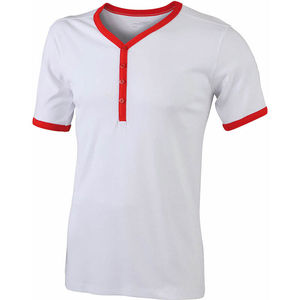 blanc-rouge - tshirts personnalisable homme